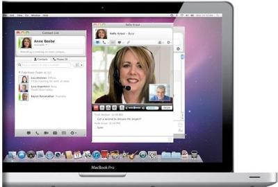 Microsoft Lync in action on a Mac